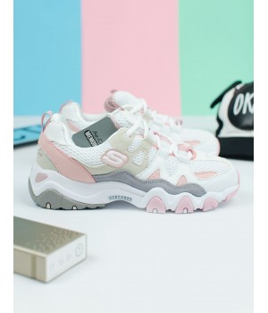 Кроссовки женские SKECHERS D'Lites 2  White/Pink