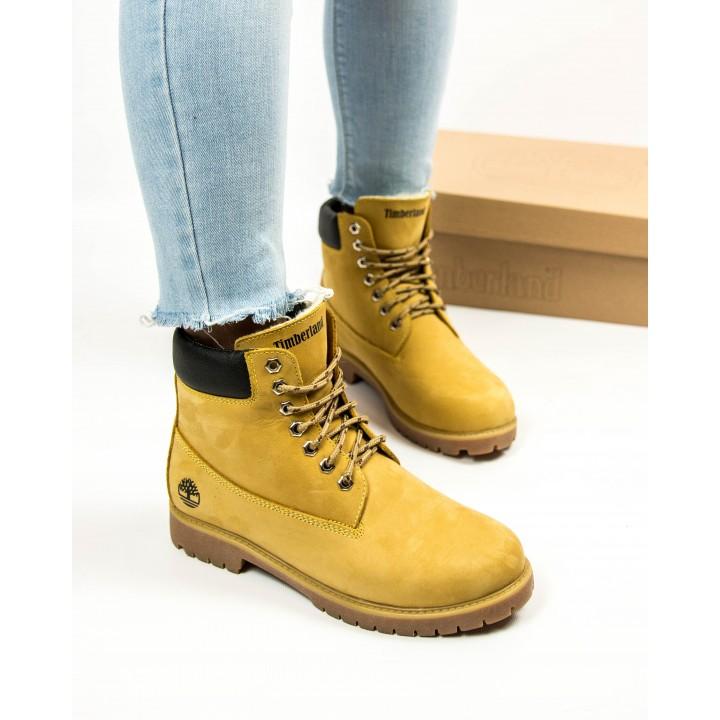 Ботинки Timberland Classic 6 inch Winter Fur Yellow