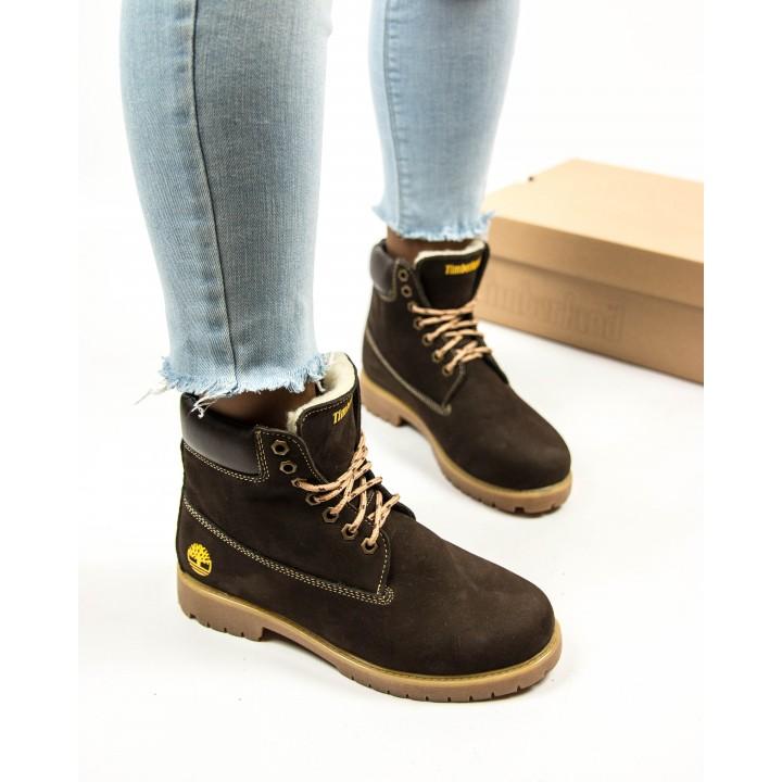 Ботинки Timberland Classic 6 inch Winter Fur Brown