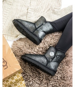 Ugg Australia Mini Bailey Button Metallic Black
