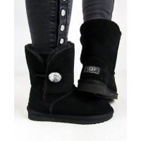 "UGG BAILEY BUTTON II BLING BOOT ""BLACK"""