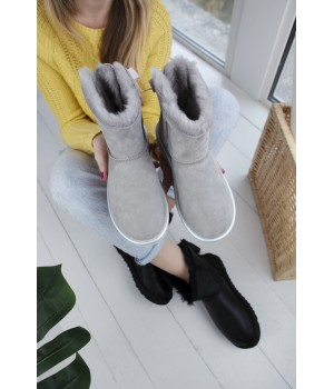 Ugg Bailey Bow Light Gray Mini