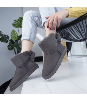 Ugg Bailey Bow Gray Mini