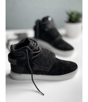 Мужские кроссовки Adidas Tubular Invader Strap black white