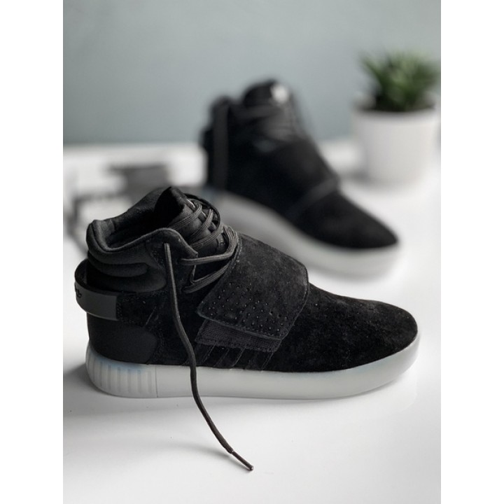 Мужские кроссовки Adidas Tubular Invader Strap black white