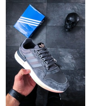Мужские кроссовки Adidas ZX 500 RM Grey Black