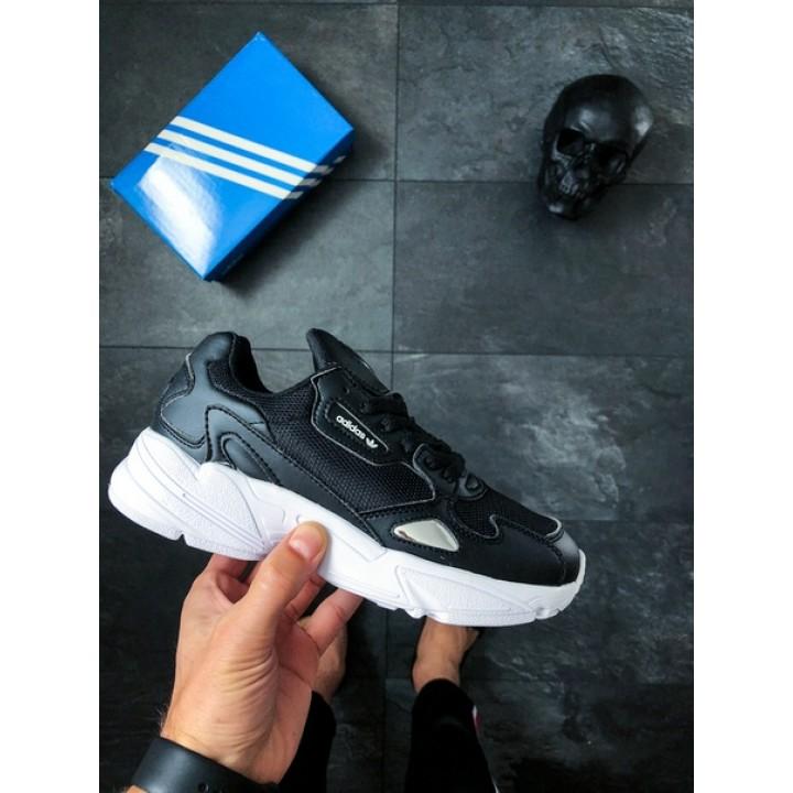 Мужские кроссовки Adidas Falcon Core Black White