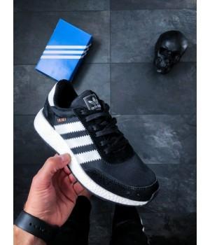 Мужские кроссовки Adidas Iniki Runner Black White