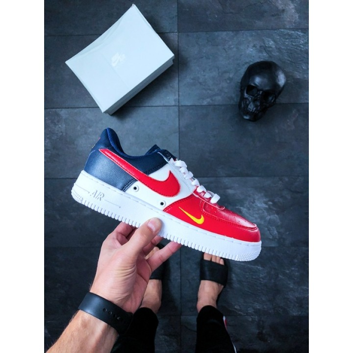 Мужские кроссовки Nike Air Force 1 '07 LV8 (white / red)