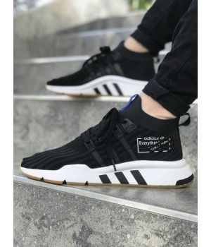 Мужские кроссовки Adidas EQT Black/White
