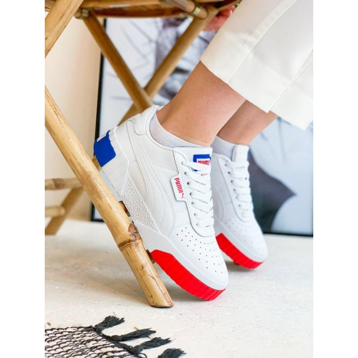 КРОССОВКИ PUMA CALI WHITE/BLACK/RED