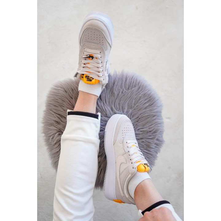 КРОССОВКИ NIKE AIR FORCE WHITE/ORANGE