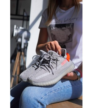 КРОССОВКИ ADIDAS YEEZY BOOST GREY/ORANGE