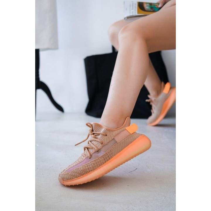 КРОССОВКИ ADIDAS YEEZY BOOST BEIGE/ORANGE