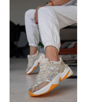 КРОССОВКИ NIKE 2K TECHNO WHITE/BEIGE/ORANGE