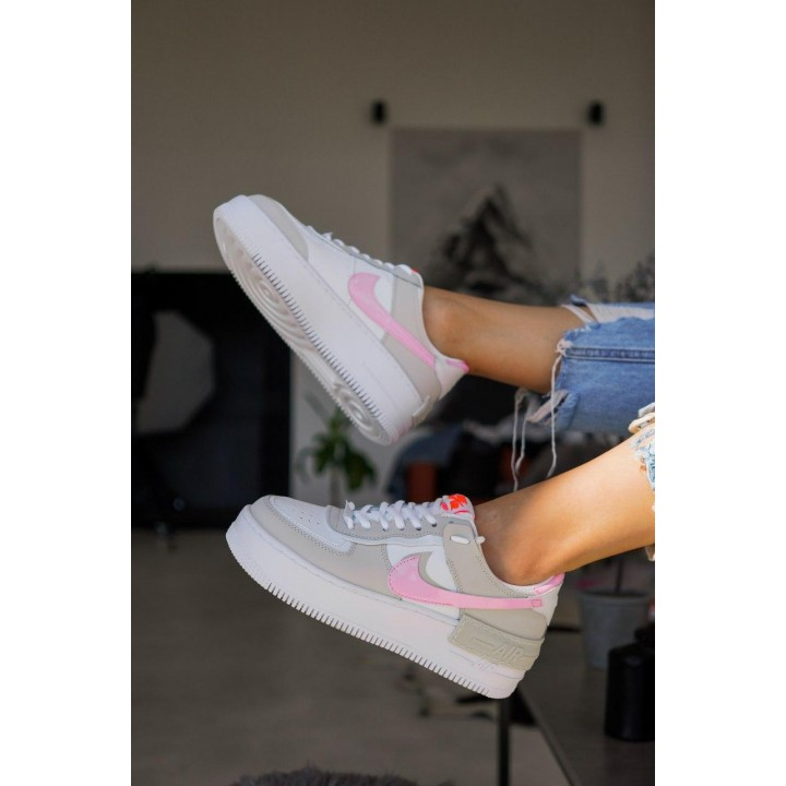 КРОССОВКИ NIKE AIR FORCE GREY/PINK