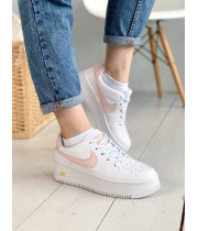 КРОССОВКИ NIKE AIR FORCE WHITE/PINK