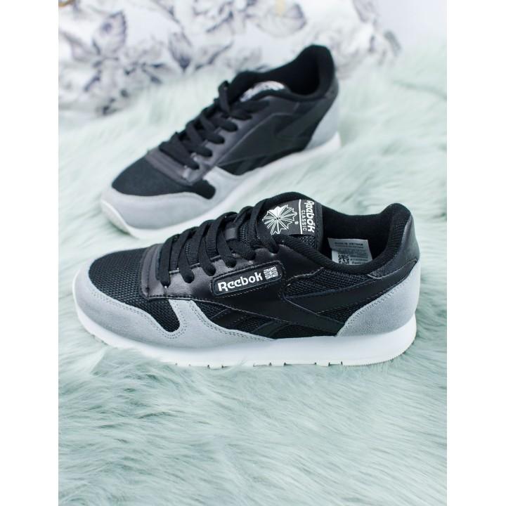 Женские кроссовки Reebok Сlassic  Black/Grey