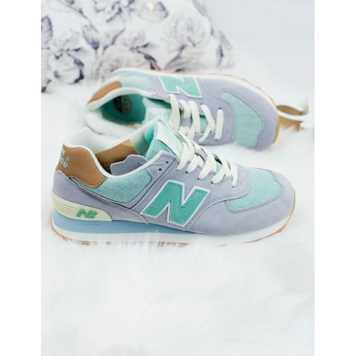 Кроссовки женские New Balance 574 Grey/Green