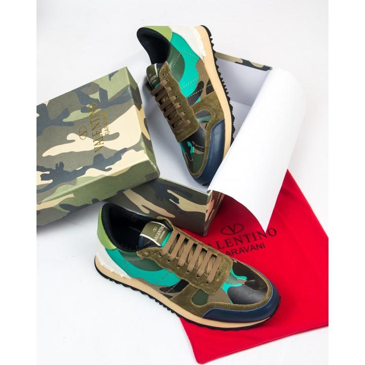 Кроссовки мужские Valentino Rockrunner Brown/Green