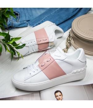 Кроссовки женские Valentino Garavani Open White/Pink