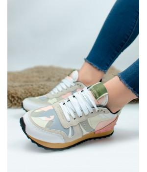 Кроссовки женские Valentino Rockrunner Grey/Pink