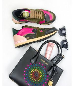 Кроссовки женские Valentino Rockrunner Brown/Pink